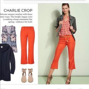 CAbi Charlie Crop Orange Pants Style #5397 {z12}